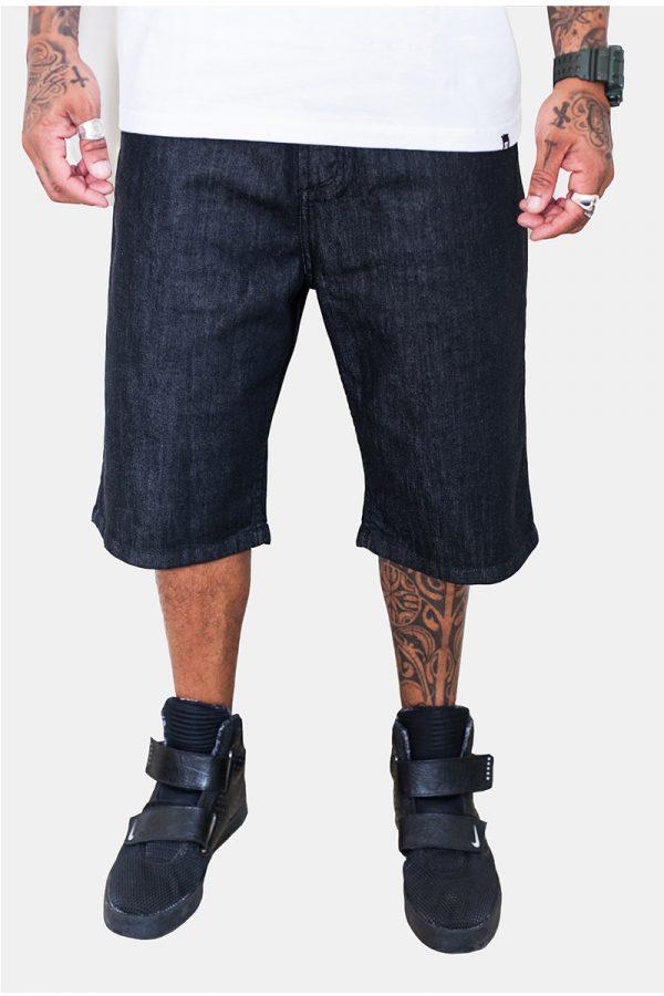 Bermuda Jeans DC Straight com bordado 1