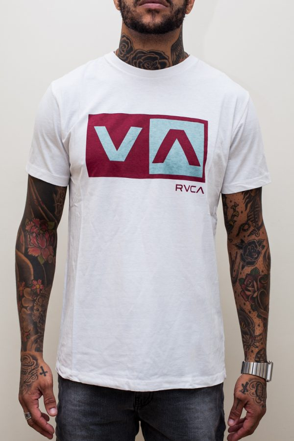Camiseta RVCA Balance Box White 1
