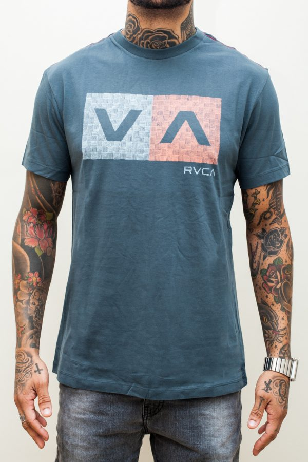 Camiseta RVCA Hatch Box Blue 1