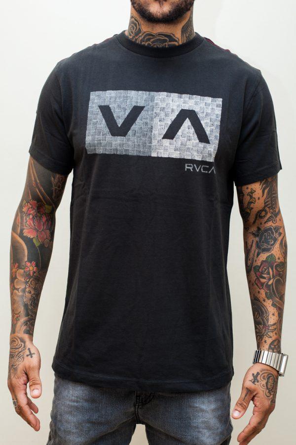 Camiseta RVCA Hatch Box Black 1