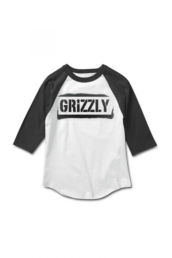 Camiseta Raglan Grizzly Stencil Stamp 1